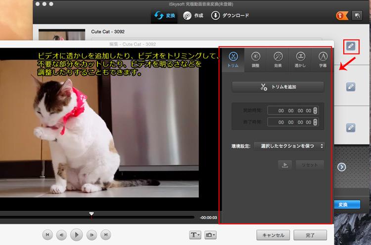 iTunesに取り込む前に、DVDビデオを編集する