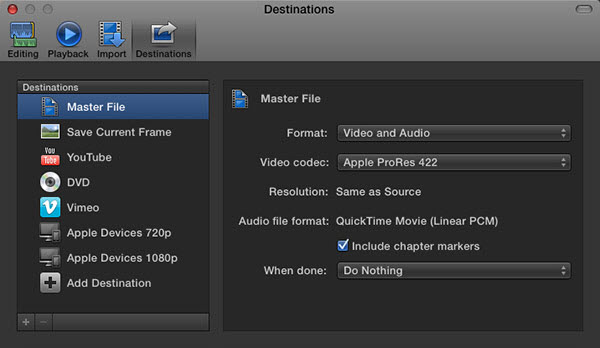 final cut pro to youtube