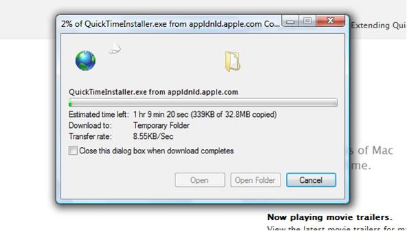 QuickTimeプラグイン for Internet Explorer